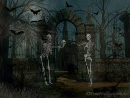 Halloween Skeletons by Scary Skeleton Wallpaper Wallpapersafari