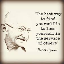 the best way to find yourself is to lose yourself in the service