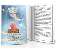 template for funeral program funeral program design ideas