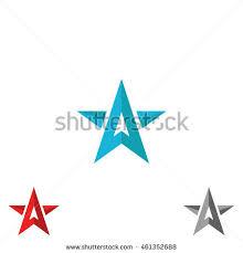logo star form upward arrows creative stock vector 461352688