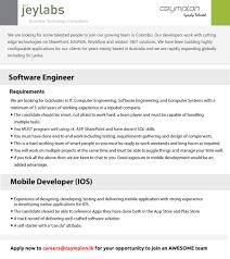 Sharepoint Developer Resumes Mobile Developer Ios New Jobs 2014 Latest Jobs Vacancies In Sri