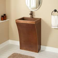 Shelf For Pedestal Sink Curved Hammered Copper Pedestal Sink Bathroom