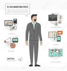 Resume Vector Professional Marketing Expert Infographic Skills Resume With