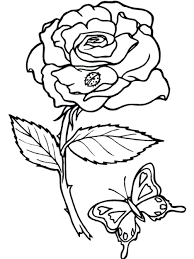 valentine roses hearts coloring pages heart rose printable