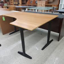 small black writing desk desk wood laminated black metal legs