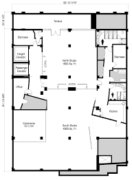 Studio Plan by Large Midtown West Loft With Terrace New York Ny Photo Film