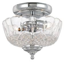 hton bay caffe patina 2 light semi flush mount 17 best crystal replacement light shades images on pinterest