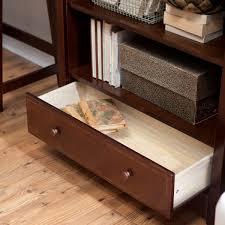 Sauder Heritage Hill Bookcase by 5 Shelf Bookcase With Drawer Davinci Roxanne