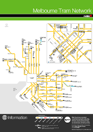 Melbourne Tram Map Ptv Helen Punton
