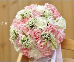wedding flowers cork foam artificial wedding bouquets bridal bouquet pink bridal