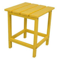 Yellow Outdoor Side Tables Patio Tables The Home Depot - Yellow patio furniture