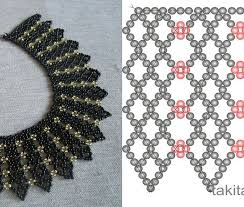 beaded seed bead necklace images Netting schema from beads magic seed bead tutorials older seed jpg
