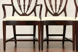 Sold Set Of 10 Shield Back 1940 Vintage Mahogany Dining Chairs