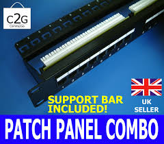 Patch Panel Wiring Diagram Cat6 Category 6 Rj45 Patch Panel 24 Way Port U0026 Cable Management Bar