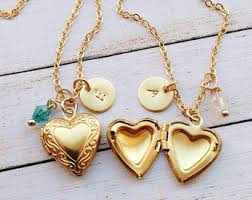 girl heart necklace images Girls heart necklace etsy jpg