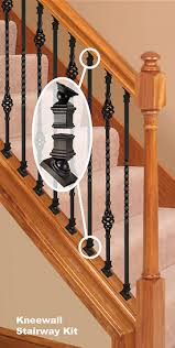 ironpro kneewall kit home ideas pinterest wood balusters