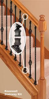 ironpro kneewall kit home ideas pinterest wood balusters