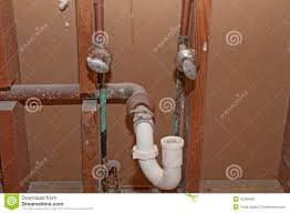 plumbing old bathroom pipes stock photo image 42360600