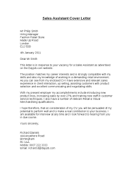 cover letter sles uk cover letter for a sales associate