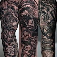tattoo ideas for men 60 lion sleeve tattoo designs for men masculine ideas lions