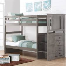 Stair Bunk Beds Bunk Beds With Stairs Hayneedle
