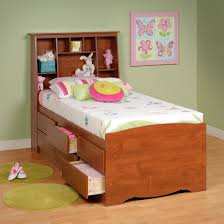 Bedroom Furniture Low Price by Prepac Furniture Captain U0027s Platform Storage Bed With Slant Back