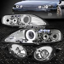 lexus sc300 headlight assembly chrome halo projector headlight led drl high beam lamp for 92 00