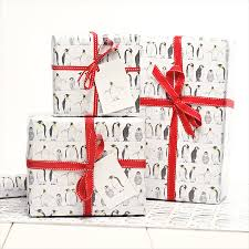 gift wrap christmas emperor penguin gift wrap by davey notonthehighstreet