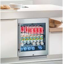 Stainless Steel Mini Fridge With Glass Door by Liebherr Ru510 24 Inch Undercounter Beverage Center With 3 7 Cu
