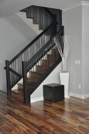 Stairway Banister Ideas Newel Post And Railings Wires Instead Of Balusters Is Probably