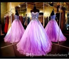 2017 light purple quinceanera dresses bling strapless sequin