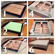 diy pallet ottoman coffee table diy pinterest