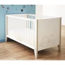 chambre teddy sauthon lit teddy 60x120cm blanc achat vente lit bébé 1811280714520
