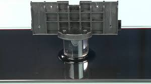 50 inch tv stand with mount how to attach the samsung 5 or 6 series lcd tv stand youtube