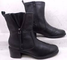 womens boots size 11w clarks nevella black leather womens ankle boot size 11w ebay
