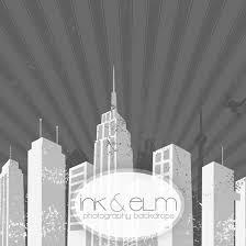 cityscape backdrop comic speech party theme photography backdrop