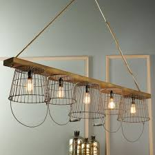 Basket Chandeliers Rustic Wire Basket And Wood Chandelier To Market To Market Wood