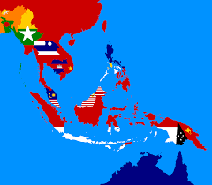 Eastern Asia Map Flag Map Of South East Asia Vexillology