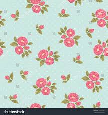 shabby chic wrapping paper shabby chic polka dot flora vintage stock vector 371693431