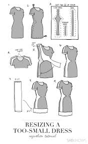 photos how to turn a too small dress into a chic new frock