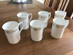 reduced 6 x u0027chanel u0027 fine bone china designer mugs in wirral