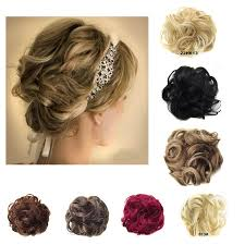 hair pieces for women women synthetic wave curly clip in hair hairpieces synthetic bride