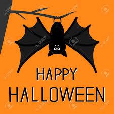 cute happy halloween images cute bat hanging on the tree happy halloween card flat design