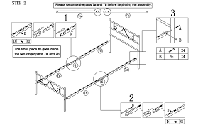 How To Assemble A Bed Frame Greenforest Size Metal Bed Frame With Stable