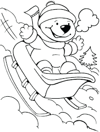 coloring pages cool winter coloring pages free winter sports