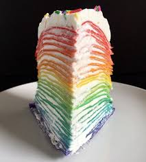 the cooking of joy rainbow crepe cake