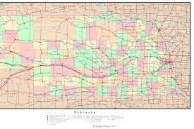 Nebraska On A Map Nebraska Map By County Afputra Com