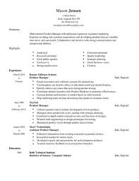 Technical Product Manager Resume Sample by Product Manager Resume Sample Jennywashere Com