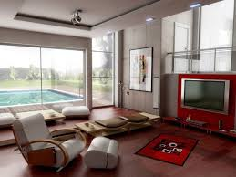 Chair In A Room Design Ideas Simple Living Room Design With Wall Mount Tv And Recliner Chairs