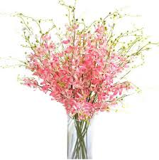 flowers free shipping wholesale 200pcs pink orchid flower artificial